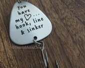 Fishing Lure Boyfriend Gift Valentines's Day Hook, Line and Sinker Fishing LureMens Gift Engraved Fishing Lure For Him Husband Gift