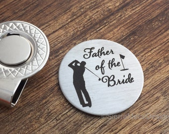 Father of the Bride Gift Golf Ball Marker Father of Bride Gift Father of the Bride Golf Ball Marker for Dad Parent Gift Parent Wedding Day