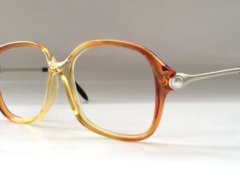 Rare 80s Vintage German Pearly Coral Ladies Womens Eyeglasses