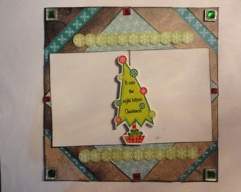 Christmas - The Night before Christmas Tree 8 x 8 scrapbook page