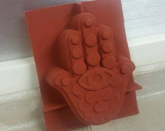 Hamsa soap mold, silicone mold, cake mold.
