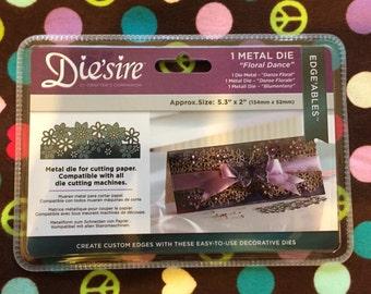 New Die'Sire Metal Edge'Ables Metal Die-Floral Dance