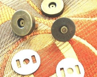 "Magnetic Snaps 3/4"" Antique Brass New Ohio Travel Bag"