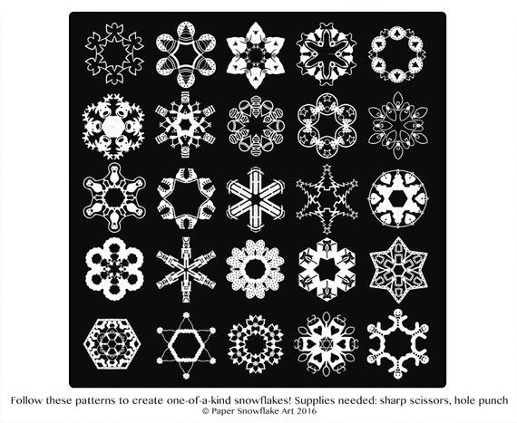 Snowflake Calendar Printables : Snowflake patterns winter craft paper snowflakes cut