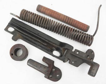 5 salvaged Sewing Machine Parts Cast Iron Wood for your assemblage Steampunk project