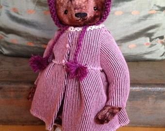 13 inch Artist Handmade Plush Teddy Bear Claudia by Sasha Pokrass