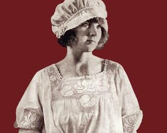 JP Coats #7 c.1922 Vintage Patterns to Make Crochet Sweaters Yokes & Lingerie (PDF - EBook - Digital Download)