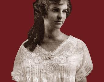 JP Coats #4 c.1919 Vintage Filet Crochet Patterns WWI Era Women's Fashions (PDF - EBook - Digital Download)