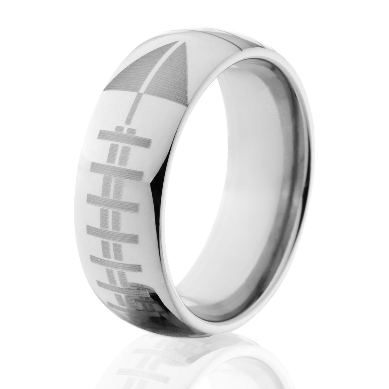 football band sports wedding bands football ring titanium football ring wedding band unique gift sports ring free engraving 8HR L FootballYard