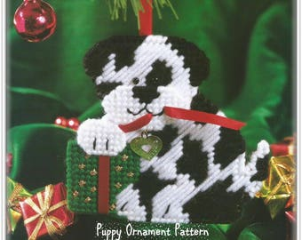 Puppy Ornament Pattern - Plastic Canvas Pattern - Beginner Level - Instant Download PC429492