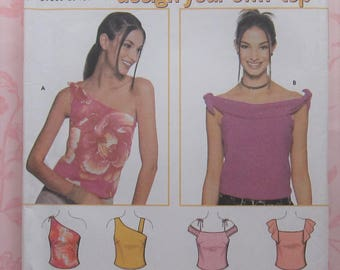 Summer Top Sewing Pattern UNCUT 7020 Sizes 3-10