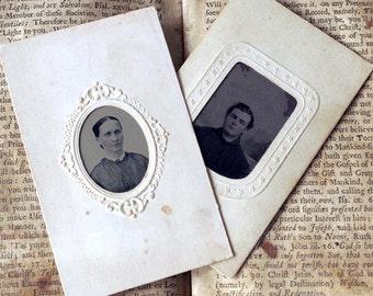 Antique Tintype Photos - Old Photographs - Civil War Era Male Femal Portraits