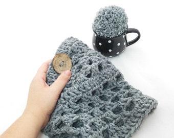 Neem - Bulky Lace Cowl - Easy Crochet Cowl Pattern - Chunky Cowl - Lace Cowl - Beginners Pattern - Crochet Neckwarmer Pattern