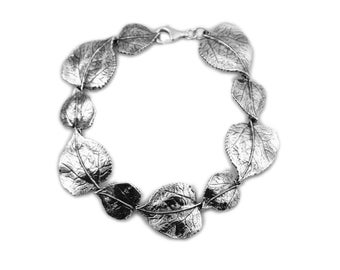 Silver Aspen Leaf Bracelet