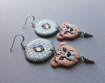 Peach Cheetah Earrings