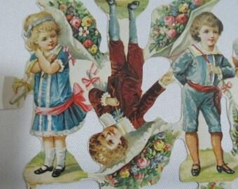 16 Vintage Die Cuts Dolls England DieCuts Scrapbook Embossed Scraps OOAK
