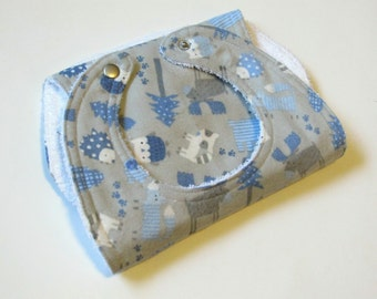 Handmade bib & burpcloth set   All things Blue   Baby Shower gift   Its a Boy   Welcoming gift   Ready to ship!