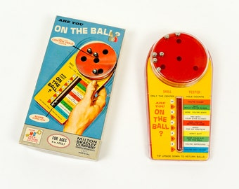 Vintage 1960s Game / Milton Bradley Are You On The Ball? Game 1964 VGC / A Test of Skill, Nerve and Patience, Ages 8 and Up