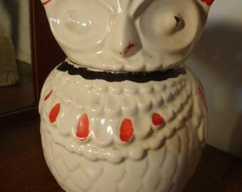 Antique Vintage Owl Cookie Jar  64BR2-4