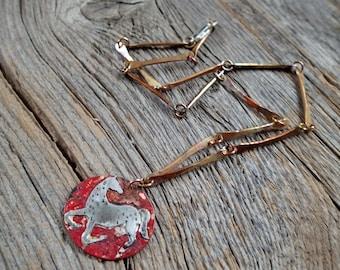 Wild Horse Rustic Pendant