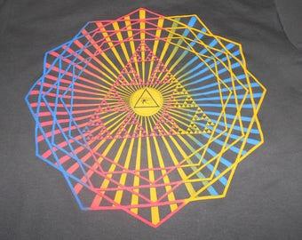 T-Shirt - Third Eye Burst (Rainbow on Charcoal)