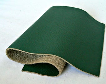 Full Grain Forest Green Leather Scrap
