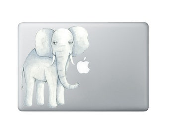 Watercolor Elephant Laptop Decal - Watercolor MacBook Sticker - Original Watercolor Elephant Painting made into a Decal