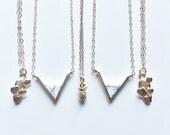 RESERVED for Rebecca - 2 white v necklaces