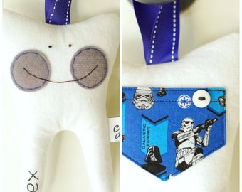 Star Wars Themed Tooth Fairy Pillow- Personalized