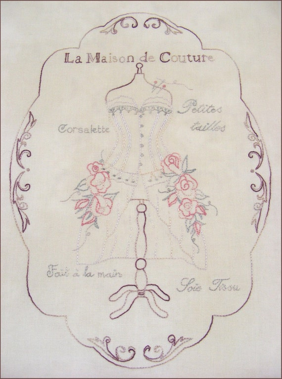 La maison de couture stitchery pattern from braidcraft on for Ayzel maison de couture