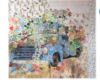 Old Blue Vintage Truck Collage,  # LHFWOB - FREE SHIPPING