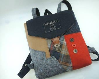 Backpack Recycled Backpack bag Mens Backpack  Womens backpack Softsided Bag Recycled Mens Suit Coat Bag Travel Bag