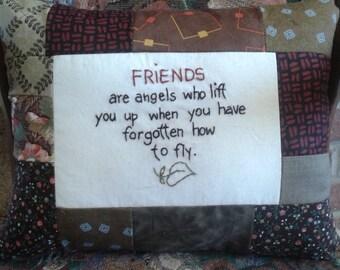 Friend angel pillow