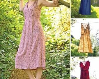 Pullover Dress Pattern, Midi Dress Pattern, Casual Summer Dress Pattern, Simplicity Sewing Pattern 8231