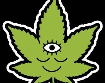 Woke Weed Sticker