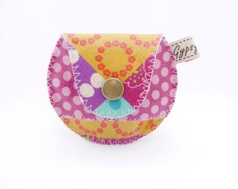 The Mini Gypsy Change Purse -Vegan Edition- Printed Vinyl Coated Canvas / Vegan Coin Purse / Ready to Ship