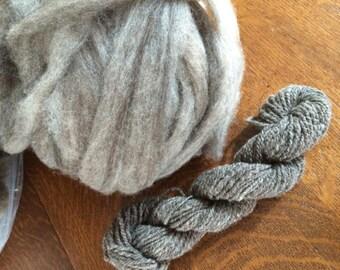 Heathered Grey Roving, CVM/Rambouillet