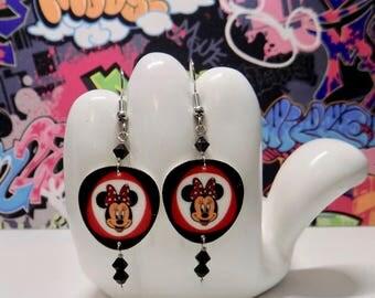 Classic Minnie Mouse Dangle Earrings