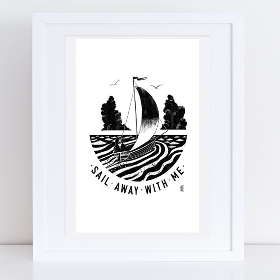 Sail Away 2017 - Signed print