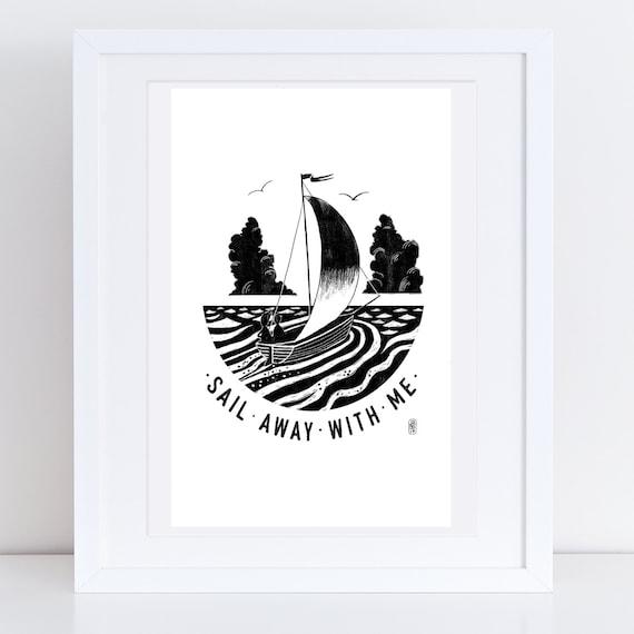 Sail Away 2017 - Signed print