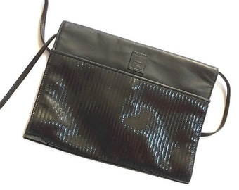 Vintage 80s Fendi Black Leather Purse