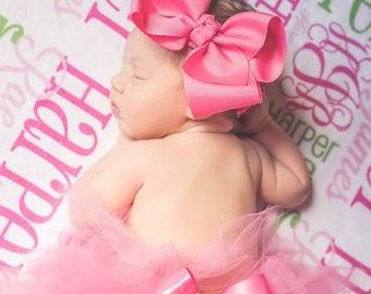 SPRING SALE Personalized Baby Blanket Monogram Baby Blanket Personalized Baby Gift Name Receiving Blanket Baby Shower Gift Photo Prop Birth