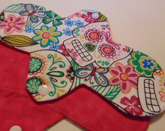 """Reusable Menstrual Pad, 9"""" Lightweight, 100% Cotton, No Plastics, Or Chemicals are used, Eco Friendly"""
