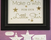 Twinkle Twinkle Little Star cCombo Baby Shower Message Cards