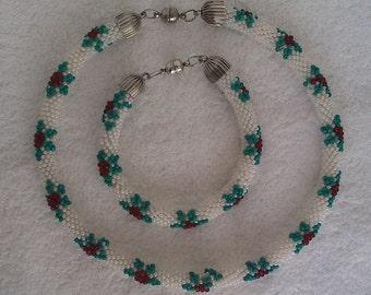 Flowery Tubular Bead Crochet Set