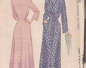 Vintage Misses Ladies Robe Pattern ~ Mc Call's 7486 Size 40 ~ Ankle Lenth ~ Wrap Front ~ Set In Sleeves ~ Factory Folded