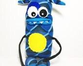 GOBERT - Handmade Monster, Sockmonster, Stuffed Toy, Stuffie