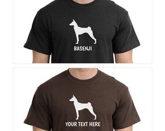 Basenji Dog Silhouette Custom T-Shirt - Men Women Youth Kids Long Sleeve Personalized Tee