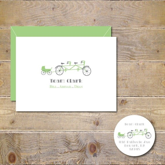 Tandem Bike, Baby Cards, Baby Thank You Cards, New Baby Cards, Prams, Baby Carriages, Baby Announcements, Thank You Cards, Baby Shower Cards
