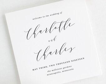 Charlotte Wedding Programs - Deposit